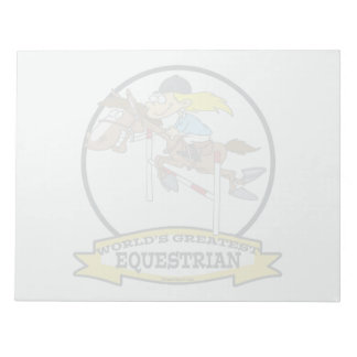WORLDS GREATEST EQUESTRIAN WOMEN CARTOON NOTE PAD