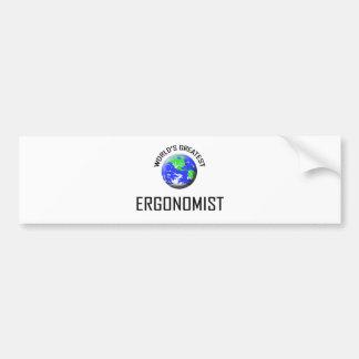 World's Greatest Ergonomist Bumper Sticker