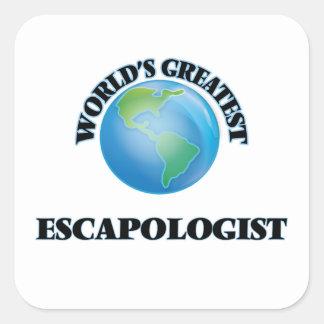 World's Greatest Escapologist Square Sticker