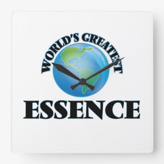 World's Greatest Essence Square Wall Clock