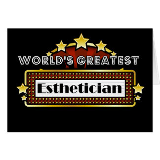 World's Greatest Esthetician Card