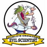 WORLDS GREATEST EVIL SCIENTIST MEN CARTOON PHOTO CUT OUT