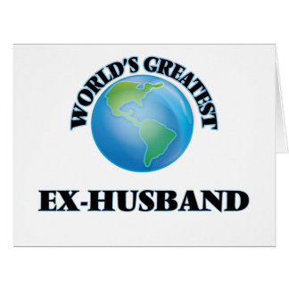 World's Greatest Ex-Husband Cards