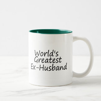 worlds Greatest Ex-Husband Two-Tone Coffee Mug