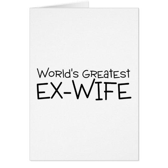 Worlds Greatest Ex Wife Card