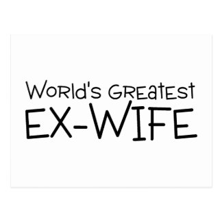 Worlds Greatest Ex Wife Postcard