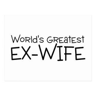 Worlds Greatest Ex Wife Postcard