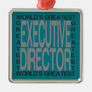 Worlds Greatest Executive Director Metal Ornament