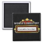 World's Greatest Executive Secretary 2 Inch Square Magnet