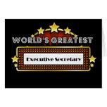 World's Greatest Executive Secretary Greeting Card
