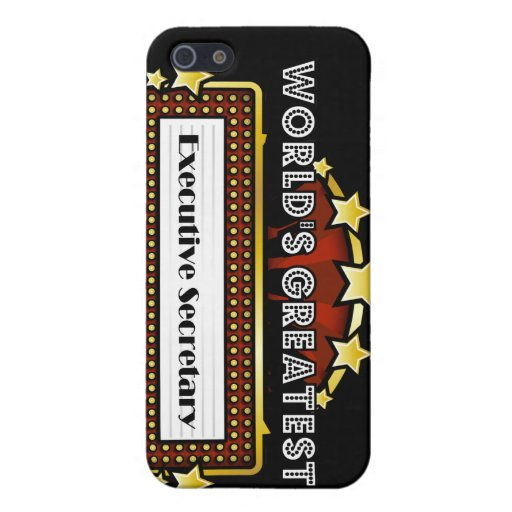 World's Greatest Executive Secretary Cover For iPhone 5