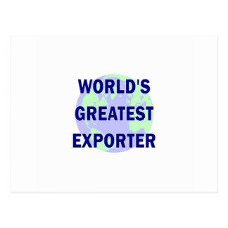 World's Greatest Exporter Postcard