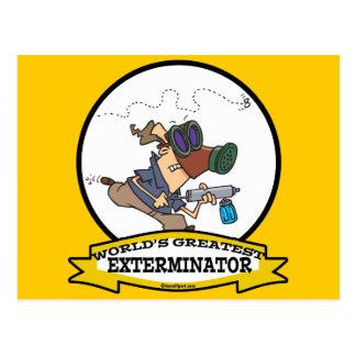 WORLDS GREATEST EXTERMINATOR MEN CARTOON POSTCARD