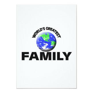 World's Greatest Family 5x7 Paper Invitation Card
