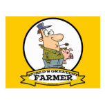WORLDS GREATEST FARMER CARTOON POSTCARD