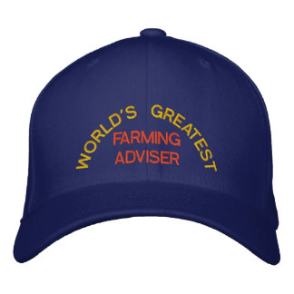 WORLD'S GREATEST, FARMING ADVISER EMBROIDERED BASEBALL CAP