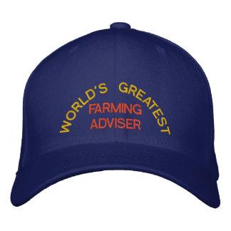 WORLD'S GREATEST, FARMING ADVISER EMBROIDERED HAT