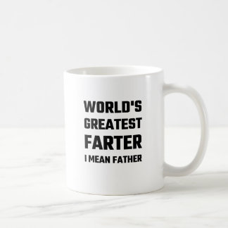 World's Greatest Farter I Mean Father Classic White Coffee Mug