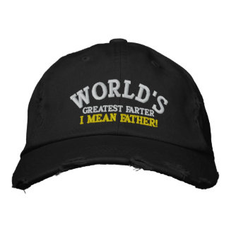 World's Greatest Farter... I mean Father! Embroidered Baseball Cap