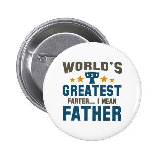 World's Greatest Farter Pinback Button