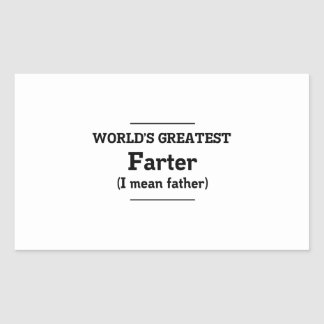 World's Greatest Farter Rectangular Sticker
