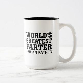 World's Greatest Farter Two-Tone Coffee Mug