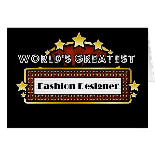 World's Greatest Fashion Designer Card