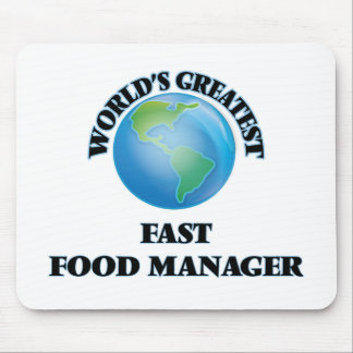 World's Greatest Fast Food Manager Mousepad