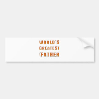World's Greatest Father 2 Bumper Sticker