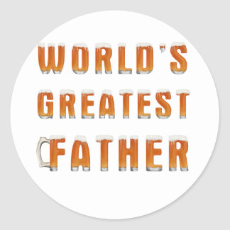 World's Greatest Father 2 Classic Round Sticker