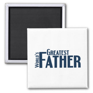 Worlds Greatest Father 2 Inch Square Magnet
