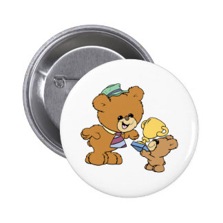worlds greatest father cute teddy bears design 2 inch round button