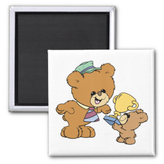 worlds greatest father cute teddy bears design 2 inch square magnet