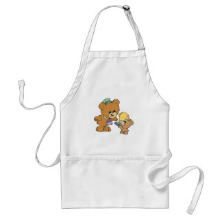 worlds greatest father cute teddy bears design adult apron