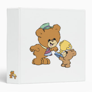 worlds greatest father cute teddy bears design vinyl binder