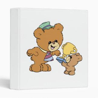 worlds greatest father cute teddy bears design binders