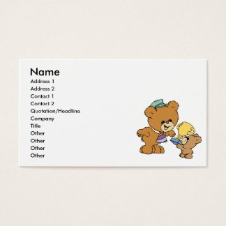 worlds greatest father cute teddy bears design business card
