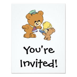 worlds greatest father cute teddy bears design card