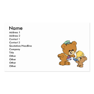 worlds greatest father cute teddy bears design Double-Sided standard business cards (Pack of 100)