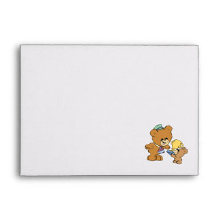 worlds greatest father cute teddy bears design envelopes