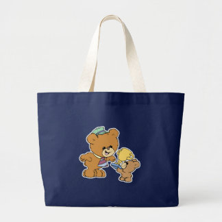 worlds greatest father cute teddy bears design large tote bag