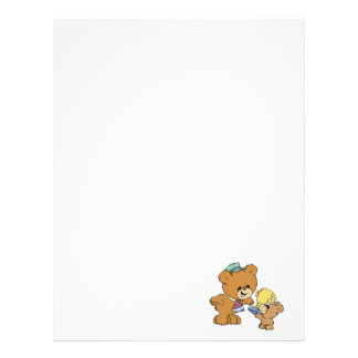 worlds greatest father cute teddy bears design letterhead