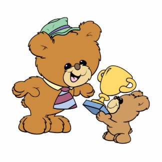 worlds greatest father cute teddy bears design photo cut out