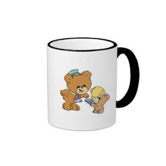 worlds greatest father cute teddy bears design ringer coffee mug