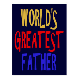 WORLD'S GREATEST FATHER POSTCARD