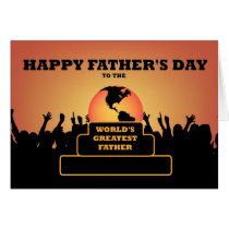 Worlds Greatest Fathers Day Award Greeting Card