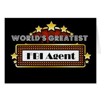 World's Greatest FBI Agent Cards