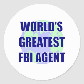 World's Greatest FBI Agent Classic Round Sticker
