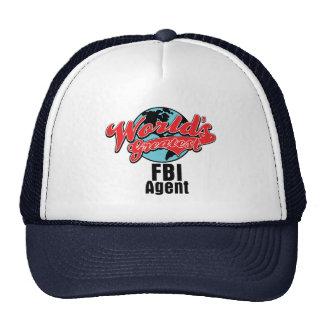 Worlds Greatest FBI Agent Trucker Hats