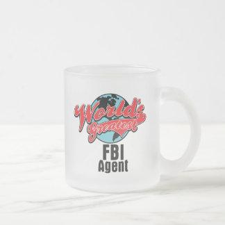Worlds Greatest FBI Agent 10 Oz Frosted Glass Coffee Mug